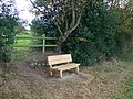 Seat on the Sandstone Trail - geograph.org.uk - 1561499.jpg