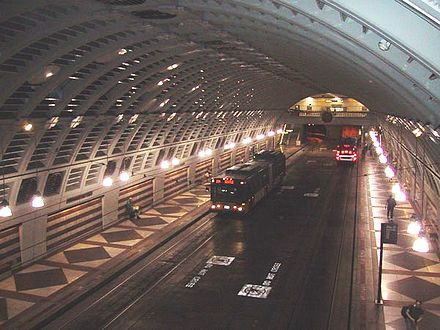 Downtown Seattle Transit Tunnel in Seattle, Washington Seattle Metro Bus Tunnel Pioneer Square Station.jpg
