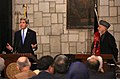 Secretary Kerry Delivers Remarks With Afghan President Karzai (8592702794).jpg