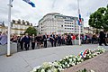 Secretary Kerry Lays Flowers at Monument of Remembrance in Luxembourg City (27730325694).jpg