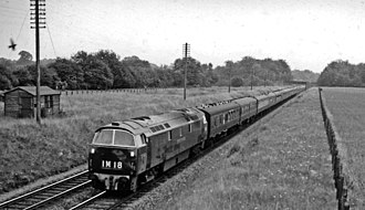 British Rail Class 52 - An early photo of  D1005 Western Venturer in 1962.