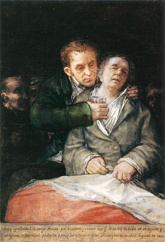 1820 in art - Image: Self portrait with Dr Arrieta by Francisco de Goya