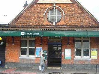 Selhurst railway station - Image: Selhurst 1