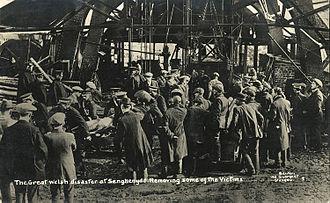 Mining accident - Senghenydd pit, U.K. 1913.