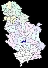 aleksandrovac srbija mapa Opština Aleksandrovac   Wikipedia aleksandrovac srbija mapa