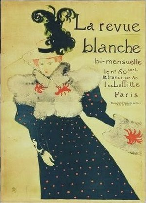 Misia Sert - Sert portrayed on the cover of La revue blanche, by Toulouse-Lautrec