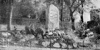 Cippo in memoria di Michele Serveto, Champel, Ginevra, 1903