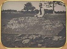 Сет Истман в Dighton Rock Daguerreotype.jpg