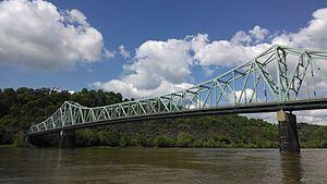 Sewickley Bridge - Sewickley Bridge from upstream.