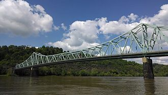 Sewickley Bridge - Sewickley Bridge from upstream.