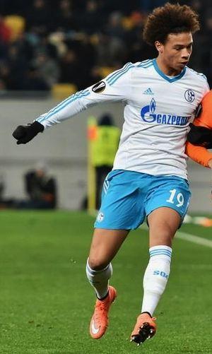 Leroy Sané - Sané playing for Schalke 04 in 2016