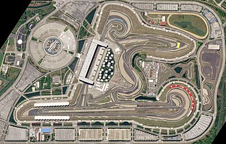 Shanghai International Circuit - Satellite image of the circuit, as it appeared in April 2018