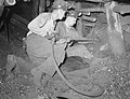 Shenandoah, Pennsylvania. Miners Renick and Gladski drilling to set blast, Maple Hill mine tunnel 29, 1938 by Sheldon Dick.jpg