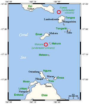 Shepherd Islands - Shepherd Islands and associated underwater volcanoes