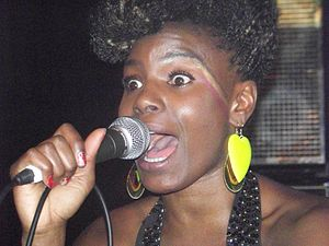 Noisettes - Shingai Shoniwa performing in Atlanta