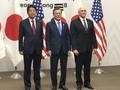 Shinzo Abe, Moon Jae-in, Pence in Pyeongchang.png