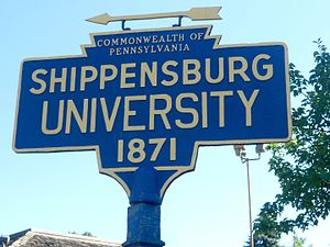 Shippensburg University of Pennsylvania - Keystone marker for the university