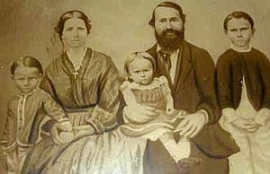 William Herbert Shipman - Shipman family c. 1861; Left to right:Oliver Taylor, Jane Stobie, Margaret Clarissa, William Cornelius, and William Herbert