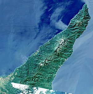 Shiretoko Peninsula - A satellite image of Shiretoko Peninsula