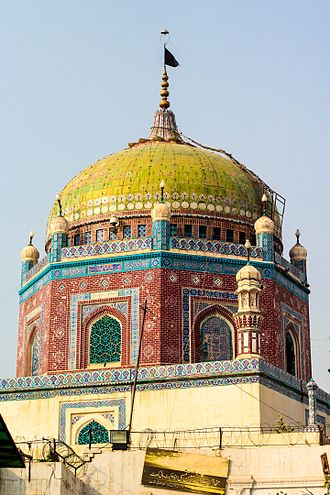 Multan - The shrine of Shamsuddin Sabzwari dates from 1330, and has a unique green dome.