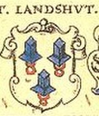Landshut - Coat of arms, depicted in 1605