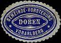 Siegelmarke Gemeinde-Vorstehung Doren - Vorarlberg W0261565.jpg