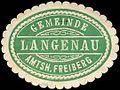 Siegelmarke Gemeinde Langenau - Amtshauptmannschaft Freiberg W0253005.jpg