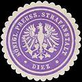 Siegelmarke Königlich Preussische Strafanstalt - Diez W0246380.jpg