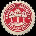 Siegelmarke Magistrat der Kreisstadt Hoyerswerda W0309892.jpg