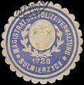 Siegelmarke Magistrat und Polizeiverwaltung Sulmierzyce W0385211.jpg