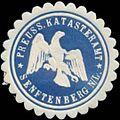 Siegelmarke Preuss. Katasteramt Senftenberg W0328010.jpg