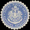 Siegelmarke Reichs-Marine-Amt Nautische Abtheilung W0364198.jpg