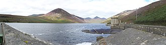 Mourne Mountains - Panorama of Silent Valley Reservoir in the Mournes