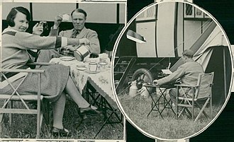 Dorothy Thompson - Sinclair Lewis and Dorothy Thompson during their honeymoon caravan trip in England, 1928