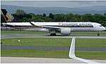 Singapore Airlines Airbus A350-941 (9V-SMB) taxiing at Manchester Airport (2).jpg