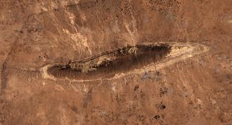 Sinjar Mountains - Satellite picture of  Shingal Mountains