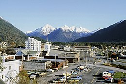 Downtown Sitka in 1984