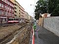 Smíchov, Plzeňská, rekonstrukce TT, u zastávky Bertramka.jpg