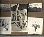 "Snapshots of men and aircraft at Camp Mohawk, one of the Royal Flying Corps' pilot training camps near Deseronto, Ontario. Includes individuals identified as ""SLYNN"", ""TINY' and ""WOODS"", with a photo (6079882986).jpg"