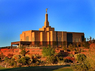 Snowflake, Arizona - The LDS Temple in Snowflake