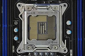 LGA 2011 - Image: Socket 2011 IMGP3918