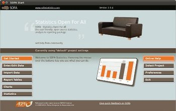 Screenshot of SOFA Statistics