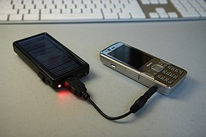 Solar cell phone charger - Image: Solar charger 4