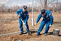 Soyuz MS-04 crew during the tree planting ceremony.jpg