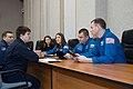Soyuz MS-12 crew members review flight plan activities.jpg