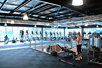 Health club - Spacious gym floor at a health club