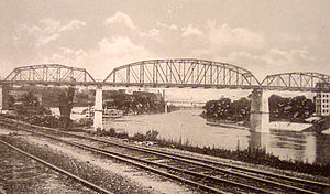 John Seigenthaler Pedestrian Bridge - John Seigenthaler Pedestrian Bridge in the 1920s