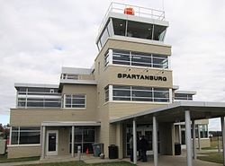 Spartanburg Downtown Memorial Airport terminal building.jpg