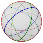 Spherical icosidodecahedron with colored cicles, 5-fold dark.png