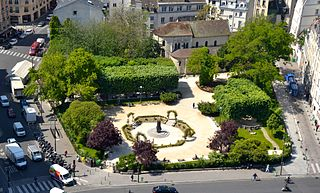 urban park in Paris, France